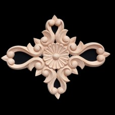 FLR-23: Fret Carved Rectangular Rosette Flower